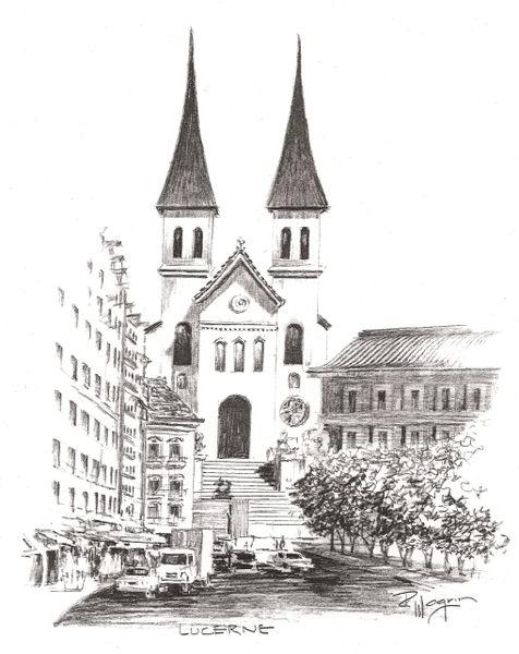 Church of St Leodegar - Lucerne