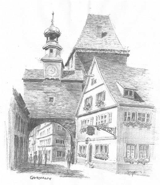 Rothenburg, St. Marks Tower