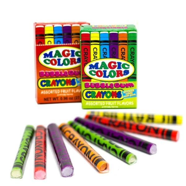 Magic Colors Bubble Gum Crayons Packs 2ct