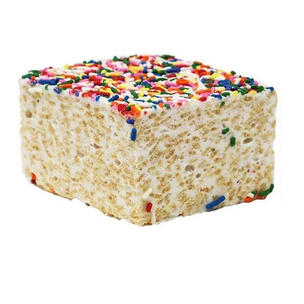 Rainbow Sprinkles Rice Crispie Treat