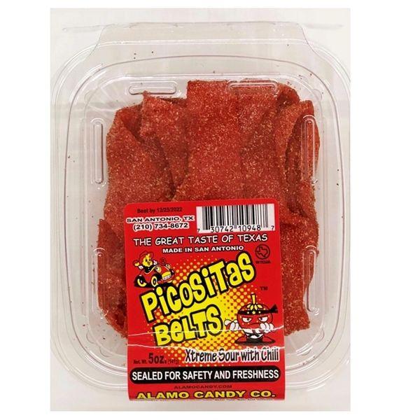 Alamo Candy Xtreme Sour Picositat Belts 5 oz