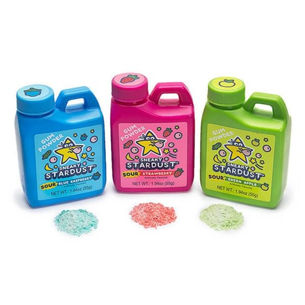 Sneaky Stardust Sour Gum Powder Jugs 12 ct | Sweet Box Candy