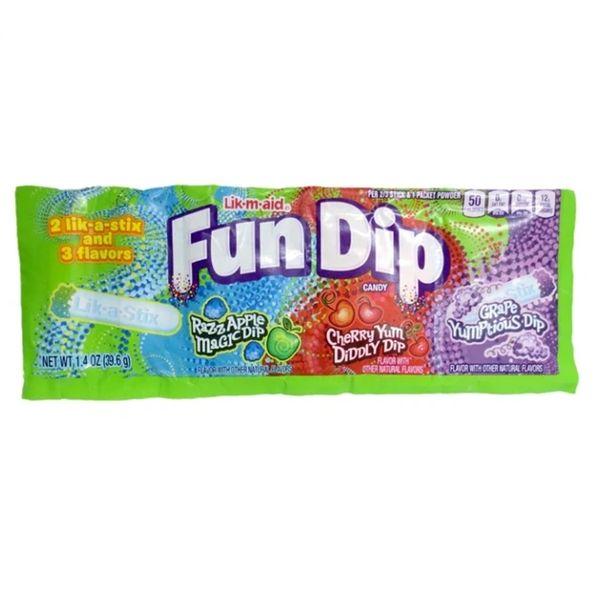Wonka Fun Dip 3 Flavors