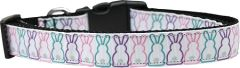 Holiday Dog Collars: Nylon Ribbon Dog Collar BUNNY TAILS by Mirage Pet Products - Matching Leash Sold Separately