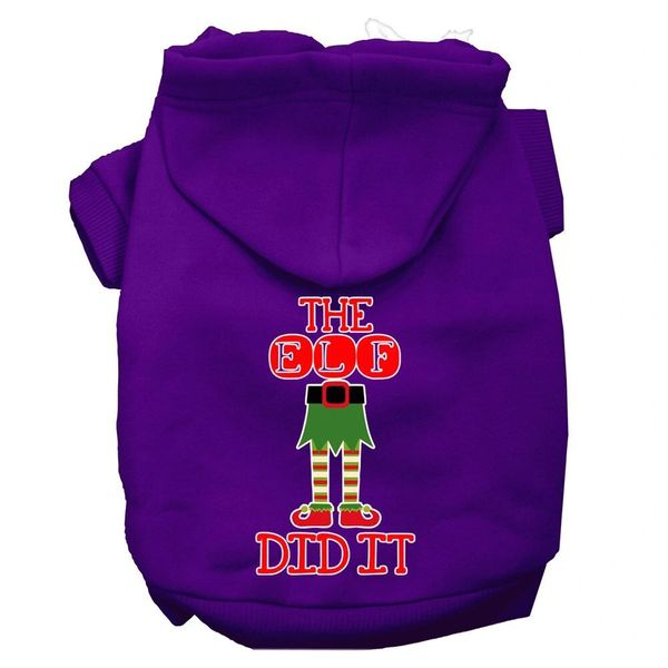 Dog Hoodies: THE ELF DID IT Screen Print Dog Hoodie in Various Colors & Sizes by MiragePetProducts