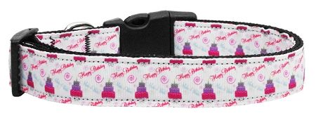 Dog Collars: Nylon Ribbon Collar CAKE & WISHES by Mirage Pet Products USA - Matching Leash Sold Separately