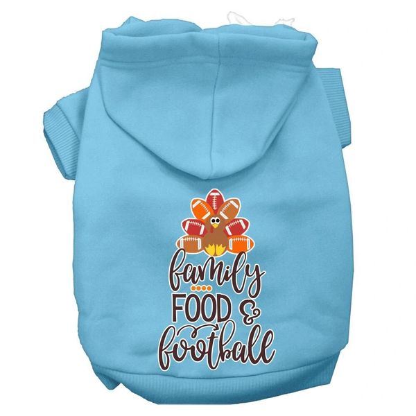 Dog Hoodies: FAMILY FOOD & FOOTBALL Screen Print Dog Hoodie in Various Colors & Sizes by MiragePetProducts