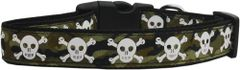 Holiday Dog Collars: Nylon Ribbon Dog Collar CAMO SKULLS Mirage Pet Products USA - Matching Leash Sold Separately