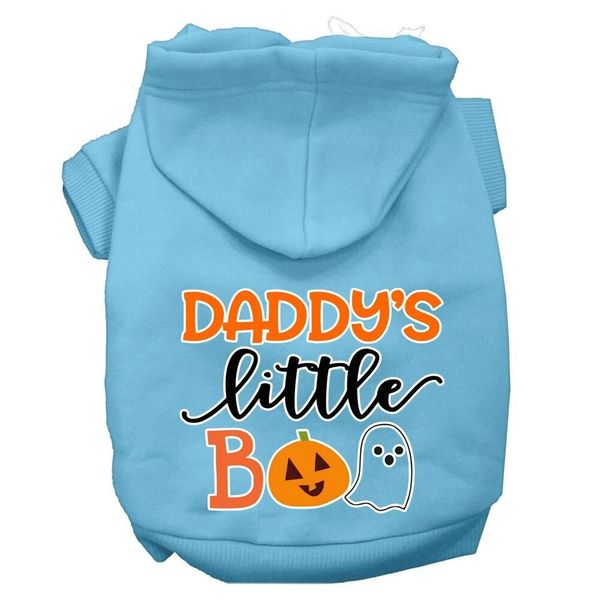 Dog Hoodies: DADDY'S LITTLE BOO Screen Print Dog Hoodie in Various Colors & Sizes by MiragePetProducts