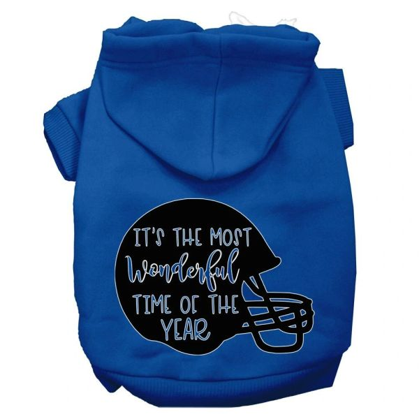 Dog Hoodies: IT'S THE MOST WONDERFUL TIME OF THE YEAR Screen Print Dog Hoodie in Various Colors & Sizes