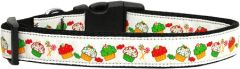 Holiday Dog Collars: Nylon Ribbon Collar CHRISTMAS CUPCAKES Mirage Products - Matching Leash Sold Separately
