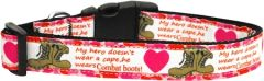 Patriotic Dog Collars: Nylon Ribbon Collar by Mirage Pet Products USA - COMBAT BOOTS