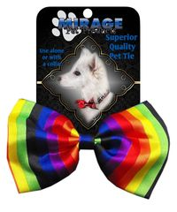 DOG BOW TIE: Decorative & Classy Silky Polyester Dog Tie in 7 Different RAINBOW Designs