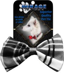 DOG BOW TIE: Decorative & Classy Silky Polyester Dog Tie in 6 PLAID Patterns