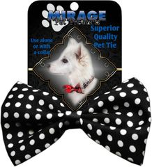 DOG BOW TIE: Decorative & Classy Silky Polyester Dog Tie in SWISS DOTS in 10 Colors