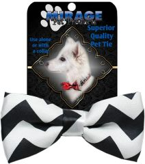 DOG BOW TIE: Decorative & Classy Silky Polyester Bow Tie for Dogs in 4 Different CHEVRON Colors