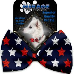 DOG BOW TIE: Decorative & Classy Silky Polyester Bow Tie for Dogs - GRAFFITI STARS