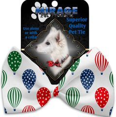 DOG BOW TIE: Decorative & Classy Silky Polyester Bow Tie for Dogs - HOT AIR BALLOONS