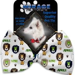 DOG BOW TIE: Decorative & Classy Silky Polyester Bow Tie for Dogs - KING OF THE JUNGLE