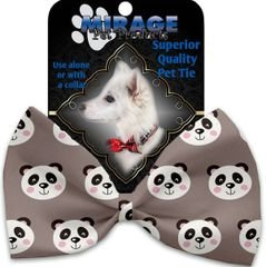 DOG BOW TIE: Decorative & Classy Silky Polyester Bow Tie for Dogs in Three PANDAS Patterns