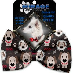DOG BOW TIE: Decorative & Classy Silky Polyester DRAPPER Dog Tie in 3 Different Designs