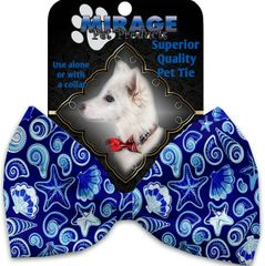 DOG BOW TIE: Decorative & Classy Silky Polyester OCEAN Dog Tie in 5 Different Designs