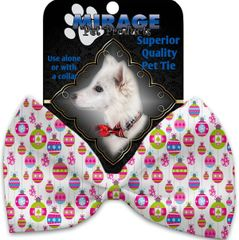 DOG BOW TIE: Decorative & Classy Silky Polyester Dog Tie with ORNAMENTS in 3 Different Designs
