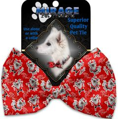 DOG BOW TIE: Decorative & Classy Silky Polyester Dog Tie with SANTA in 5 Different Designs