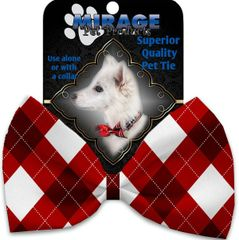 DOG BOW TIE: Decorative & Classy Silky Polyester Dog Tie with CANDY CANES in 3 Different Designs