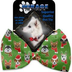 DOG BOW TIE: Decorative & Classy Silky Polyester Bow Tie for Dogs - CHRISTMAS DOGS
