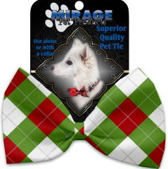 DOG BOW TIE: Decorative & Classy Silky Polyester Dog Tie with CHRISTMAS in 6 Different Designs
