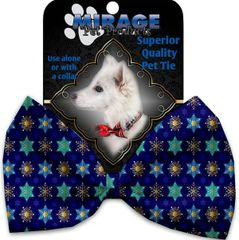 DOG BOW TIE: Decorative & Classy Silky Polyester Bow Tie for Dogs - STAR OF DAVID & SNOWFLAKES
