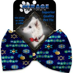 DOG BOW TIE: Decorative & Classy Silky Polyester Bow Tie for Dogs - CHANUKAH BLISS