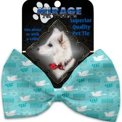 DOG BOW TIE: Decorative & Classy Silky Polyester Bow Tie for Dogs - PEACE & HANUKKAH