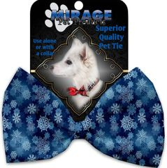 DOG BOW TIE: Decorative & Classy Silky Polyester Bow Tie for Dogs - WINTER WONDERLAND