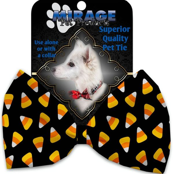 DOG BOW TIE: Decorative & Classy Silky Polyester Bow Tie for Dogs - CANDY CORN