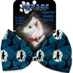 DOG BOW TIE: Decorative & Classy Silky Polyester Bow Tie for Dogs - SALEM WITCHES