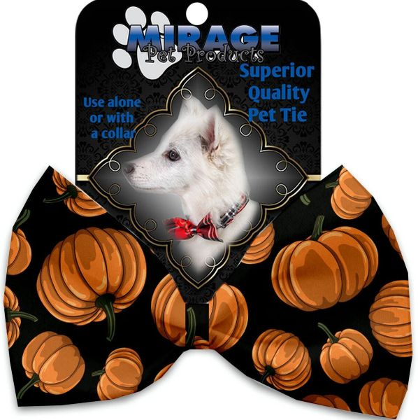 DOG BOW TIE: Decorative & Classy Silky Polyester Bow Tie for Dogs - PUMPKIN PATCH