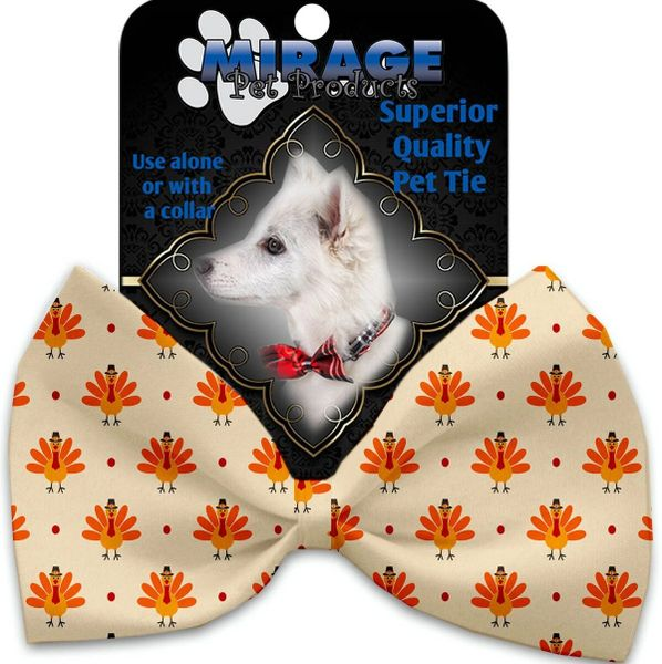DOG BOW TIE: Decorative & Classy Silky Polyester Bow Tie for Dogs - TURKEY TROT