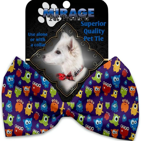 DOG BOW TIE: Decorative & Classy Silky Polyester Bow Tie for Dogs - PARTY MONSTERS