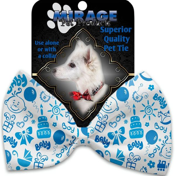 DOG BOW TIE: Decorative & Classy Silky Polyester Bow Tie for Dogs - BABY BOY