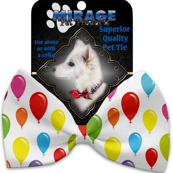DOG BOW TIE: Decorative & Classy Silky Polyester Bow Tie for Dogs - BALLOONS