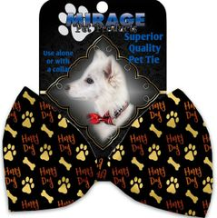 DOG BOW TIE: Decorative & Classy Silky Polyester Bow Tie for Dogs - HAPPY DOGS