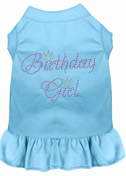DOG DRESSES: Rhinestone Dress BIRTHDAY GIRL Poly/Cotton with Ruffle Trim Various Colors & Sizes by Mirage