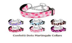 Martingale Dog Collars: Nylon CONFETTI DOTS Dog Collar Mirage Pet Products USA