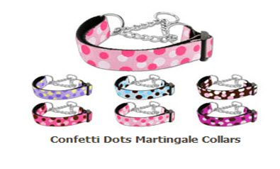 Martingale Dog Collars: Nylon CONFETTI DOTS Dog Collar - Matching Leash Sold Separately