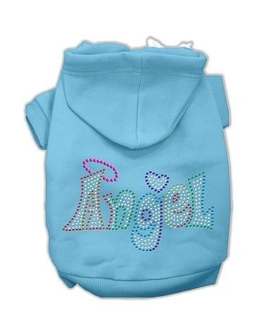 Dog Hoodies: Rhinestone TECHNICOLOR ANGEL Dog Hoodie by Mirage Pet Products USA