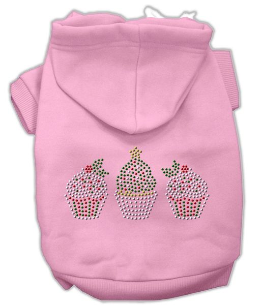 Dog Hoodies: Rhinestone CHRISTMAS CUPCAKES Dog Hoodie by Mirage Pet Products USA