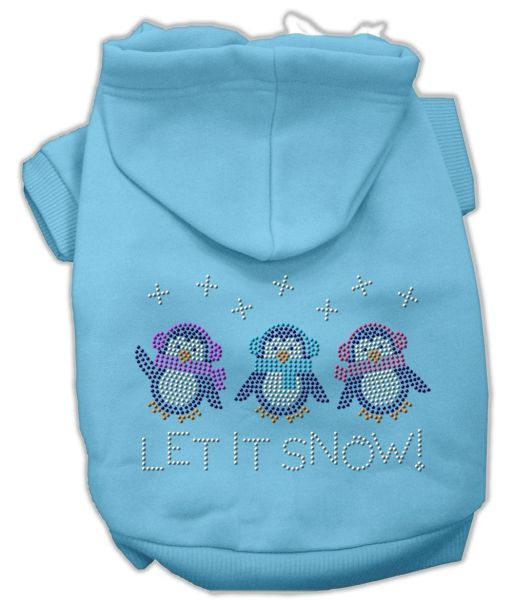 Dog Hoodies: Rhinestone LET IT SNOW Dog Hoodie by Mirage Pet Products USA