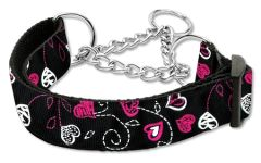 Martingale Dog Collars: Nylon Dog Collar Mirage Pet Products - CRAZY HEARTS